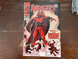 avengers 57 1st Vision very clean! Collectors key! Glossy! Original vintage!