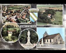COLOMBEY (52) MONUMENT aux MORTS , EGLISE & VIERGE , LA BOISSERIE aérienne 1971