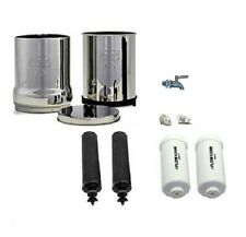 Travel Berkey Water Filter Purification 2 Black 2 PF-2 Stainless Steel Spigot