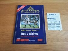 More details for 1982 hull fc v widnes - challenge cup final replay + match ticket