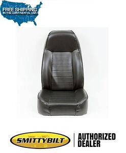 Smittybilt Standard Bucket Seat - Black Vinyl for 76-86 Jeep CJ-7 87-18 Wrangler