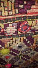 Antico Mano Cotone Ricamato Etnico Pakistan Abito pannello frontale