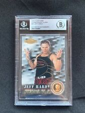 JEFF HARDY Autographed 2001 FLEER ROOKIE Card w/BECKETT ENCAPSULATION