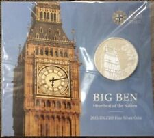 More details for big ben 2015 one hundred pound £100 silver proof coin coin bunc sealed