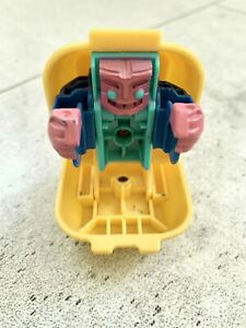 Vintage 1988 Mcdonalds Quarter Pounder With Cheese Happy Meal Transformer Toy