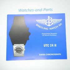 Breitling UTC 24 H Instruction Manual Booklet GENUINE ORIGINAL NOS VINTAGE