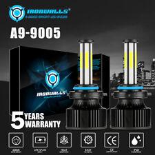6 Sides 9005 HB3 9011 LED Headlight Bulbs High Beam White 6000K Conversion Kit