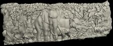 STL 3D Models # ELEPHANTS # for CNC Aspire Artcam 3D Printer