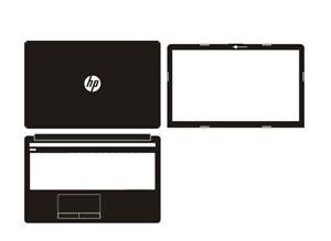 Carbon Skin Sticker Cover For HP 15-da0503sa DA0000 da0511sa da0997na da0072na