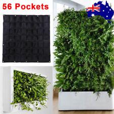 2pc 56 Pockets Hanging Planter Bag Vertical Garden Indoor Outdoor Herb Pot Decor