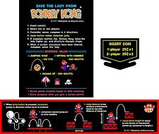 Arcade Donkey Kong decal set