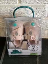 Ro + Me by Robeez Baby Pink Koala Easy On, Stay On Shoes (0-6 months)