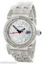 Aqua Master Women's Silver Dial Stainless Steel Case Watch Diamond Bezels Watch
