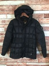 BURTON Women's XS HOODED Insulated Snow DOWN Black Jacket EUC