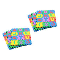 72 pcs Foam Play Mat Puzzle Alphabet&Number Crawling Mat for Kids Toddlers