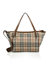100% Authentic New Burberry Check Baby Diaper Tote Bag