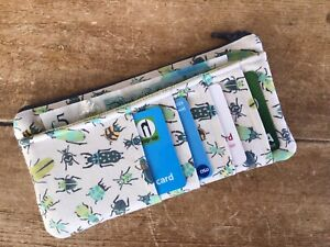 Handmade Credit Card Notes Coin Purse Insect Bug Fabric