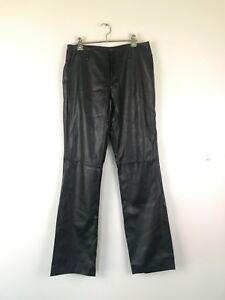 Caroline Morgan PVC Womens Pants Jeans BNWT Black Size 12 Fully Lined