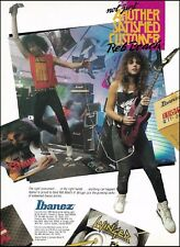 Reb Beach (Winger band) 1989 Ibanez guitar ad 8 x 11 advertisement print