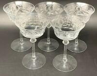 ORREFORS CRYSTAL SCENARIO CHAMPAGNE TALL SHERBERT GLASS 2391//151 NEW AND UNUSED