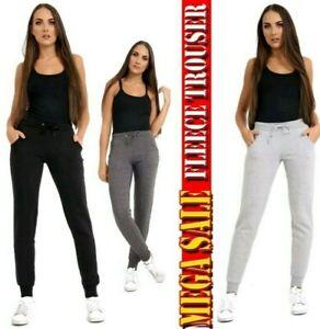 Women's Fleece Slim Fit Tracksuit Bottoms Skinny Jogging Joggers Ladies Trousers