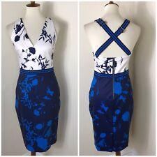 Ted Baker Floral Sheath Dress Size 2 US 4 6 Blue NWOT