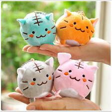 Kawaii Cute Tiger Cat Plush Doll Key Ring Key Chain Multiple Colors LTUS