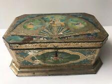 VINTAGE 1920's TIN BOX ARTSTYLE CHOCOLATE COMPANY BOSTON & ST LOUIS VICTORIAN