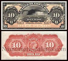 B-D-M Costa Rica 10 Colones Niagara 1899 Pick S164r SC- aUNC