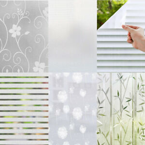 Bubble Free Frosted Window Film - Self Adhesive Etched Privacy Glass Vinyl
