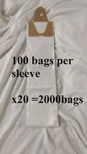 poly newspaper bags, 2000 ct.Clear 5 1/2''x19'' Dog Poop diaper pet waste 5.5x19