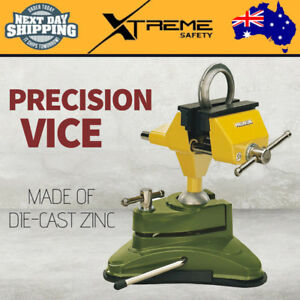 New PROXXON Precision Bench Vice FMS75, 75MM Jaws With Protective Covers & Clamp