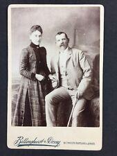 Victorian Cabinet Card: Couple: Billinghurst & Dovey: Weymouth Portland Jersey