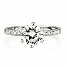 GIA 1.75carat Solitaire Ring E VS2 Br Diamond 14ct White gold 1.90 Gia Certified