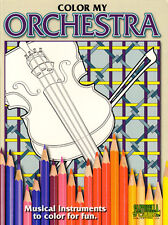 COLOR MY ORCHESTRA Instrument Colouring Book
