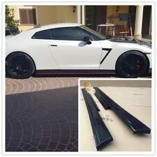 Replacements Carbon Fiber Side Skirts for NISSAN GT-R R35 GTR 2009 to 2016