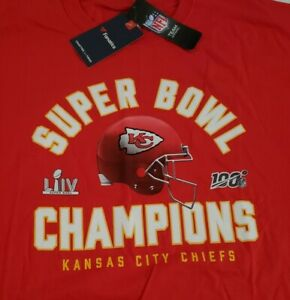 KANSAS CITY CHIEFS SUPER BOWL LIV CHAMPIONS 4XL T-Shirt By NFL T.Ap/Fan. NewWTag