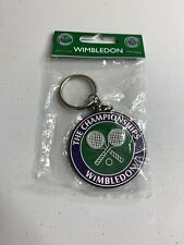 The Championships Wimbledon Official Tennis Keychain  Vintage New