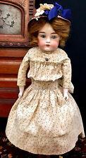 """STUNNING 17"""" Auburn Cabinet Doll KESTNER 154 JDK Antique German Bisque Head Kid"""