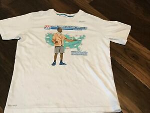 """NIKE Dri-Fit KEVIN """"Looks Like Rain"""" DURANT Weatherman White T-shirt Tee Boys M"""