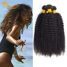 UK Kinky Curly Brazilian 3 Bundles 300g Weave Virgin Human Hair 100%25 Unprocessed