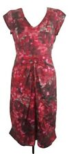 Women's Penny Black Dress Size 10 Silk Red Sleeveless Made in Italy