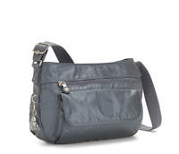 Kipling Medium Shoulder Bag SYRO Crossbody Bag STEEL GREY METAL FW19 RRP £83