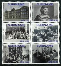 Suriname Architecture Stamps 2020 MNH Barlaeus Gymnasium Education 6v Block