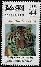 ONLY 20 IN THE WORLD PERSONALIZED STAMP ZAZZLE. SIBERIAN TIGER - head