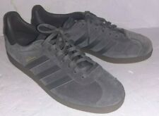 Adidas Gazelle Olive Green And Gold Suede Gum Soles Men's 8.5 Worn Once EUC