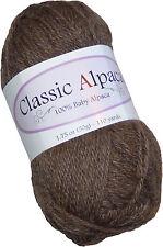 Classic Alpaca 100% Baby Alpaca Yarn #211 Rose Grey 50g/110 yds DK Peruvian