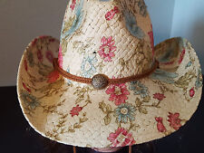 Cowboy Cowgirl Hat Garden Colorful  Flowers Rodeo Western One Size Sun 7 Colors