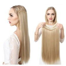 "22"" Straight Hidden Halo Invisible Wire Hair Extensions Secret Miracle Hairpiece"