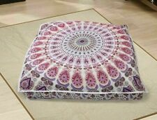 English Style Cushion Cover Handmade Indien Fancy Pillow Mandala Square Cover